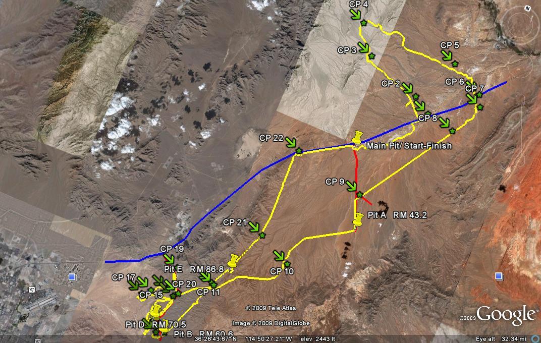 Mint 400 Desert Race Map
