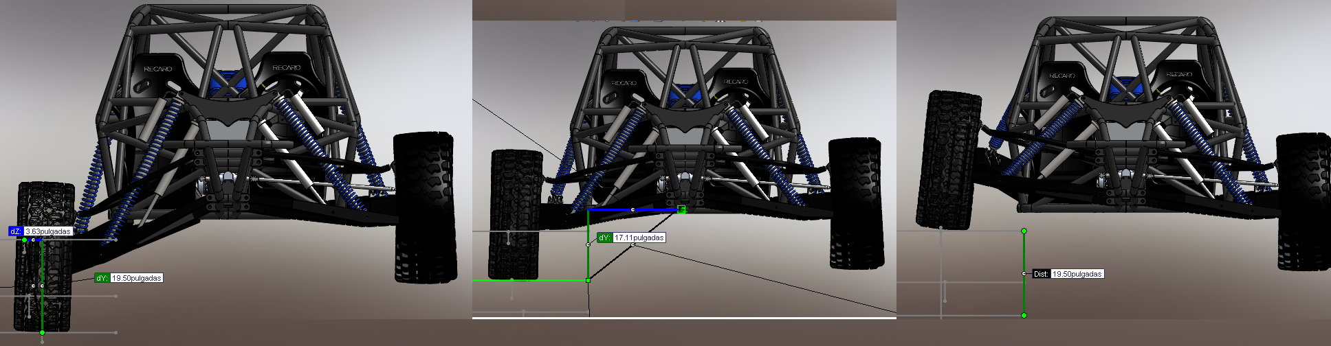 I need to Check my A-Arm suspension geometry to desert race