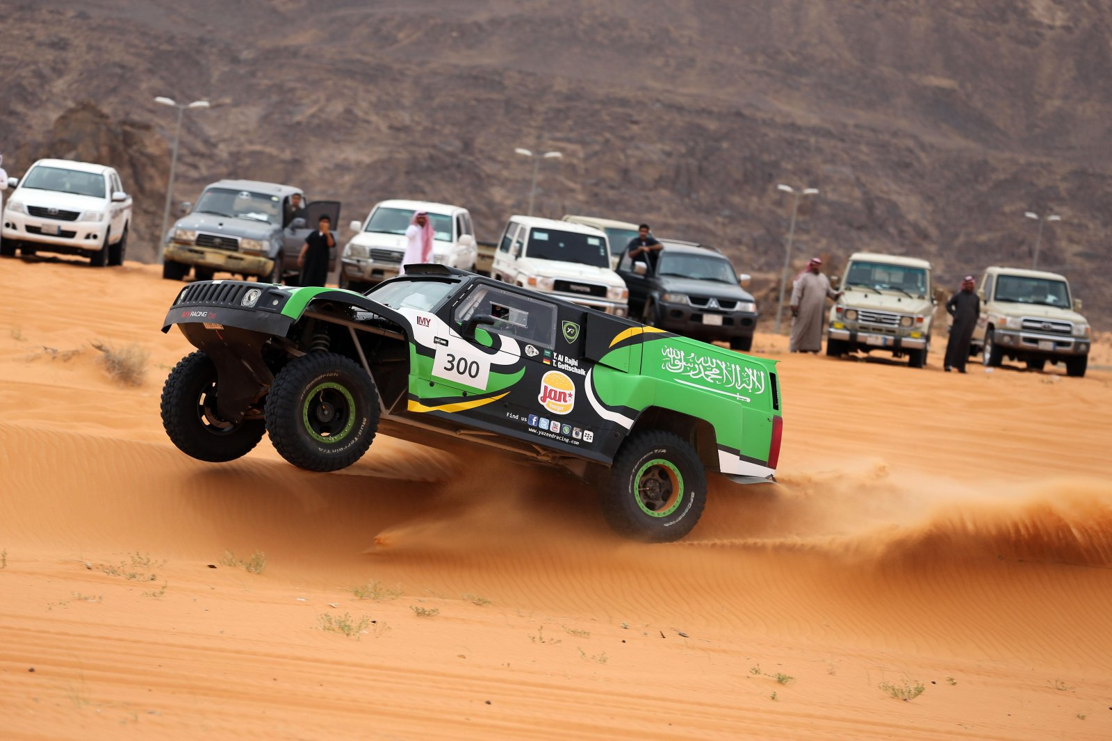 Yazeed Al-Rajhi takes a lead of over one hour into the final stage of the Ha'il Nissan Rally..jpg