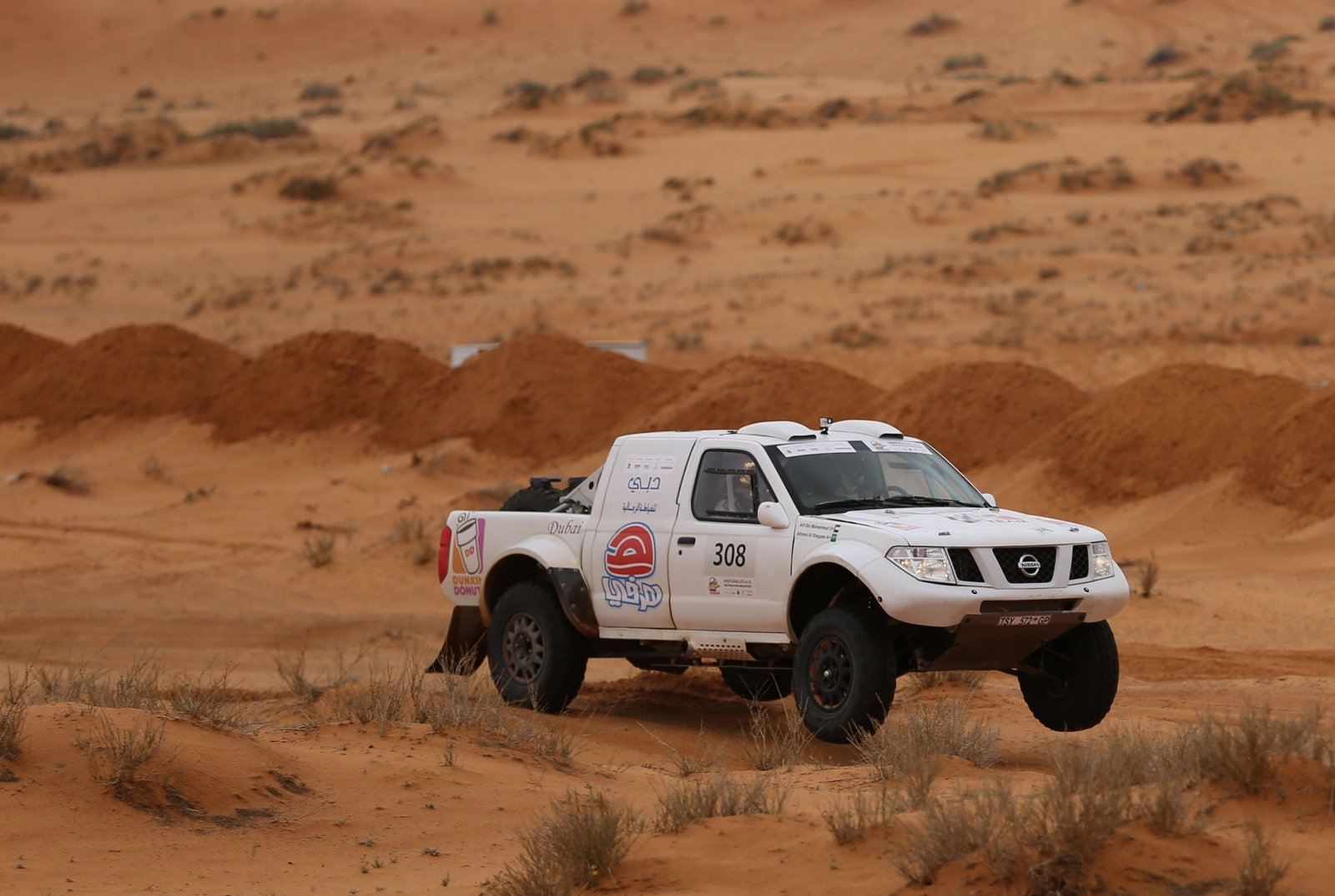 Ahmed Al-Shegawi was second fastest on the final selective section on Monday..jpg