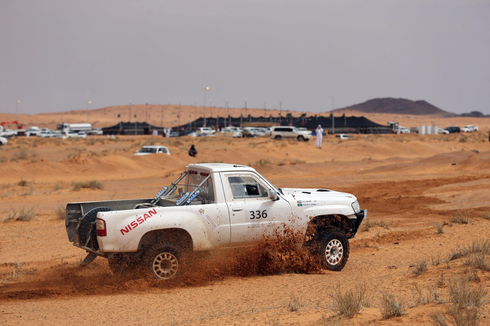 Khalid Al-Fraihi finished seventh in his Nissan..jpg
