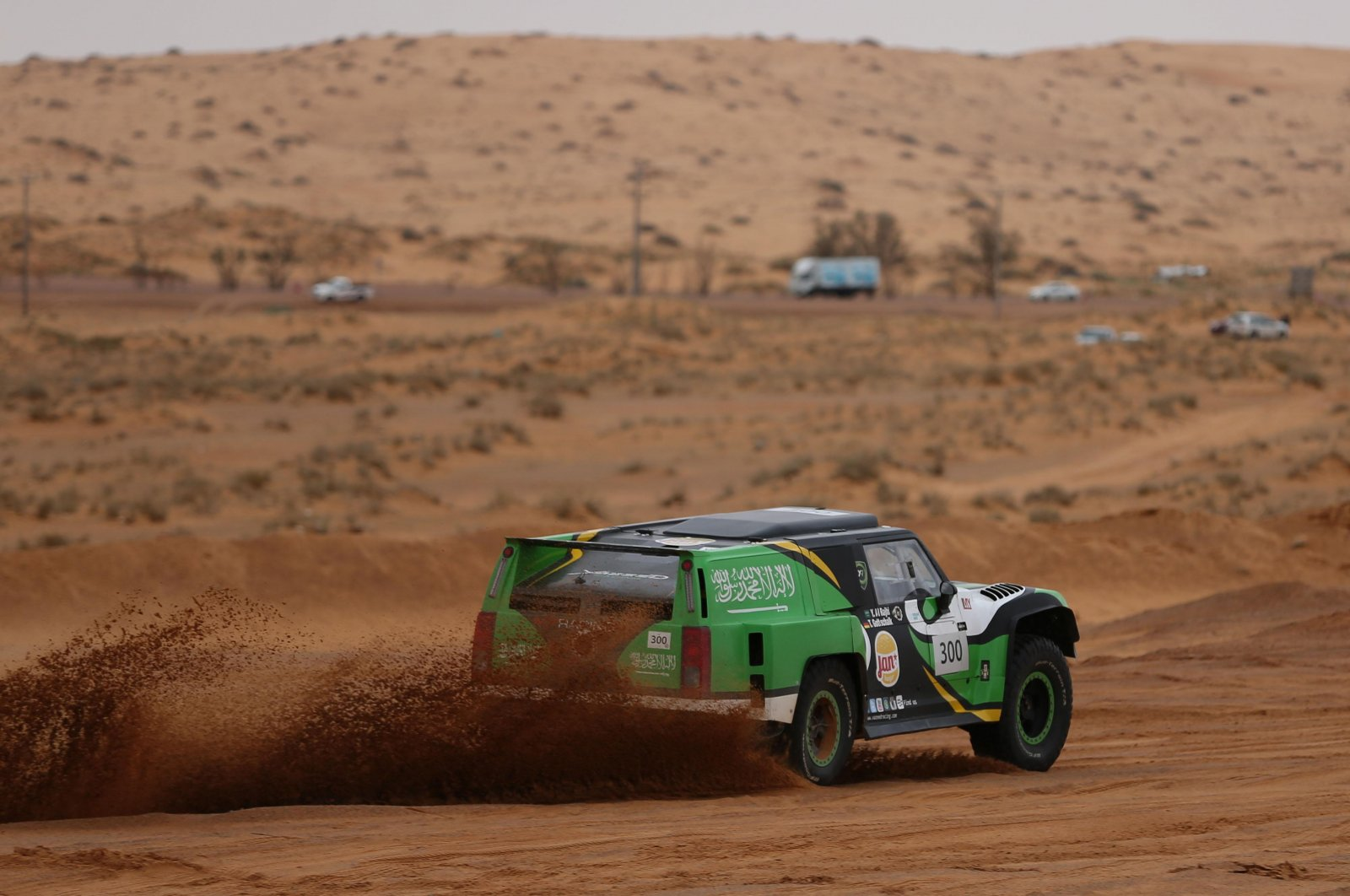 Yazeed Al-Rajhi confirmed a fifth victory in the Ha'il Nissan International Rally on Monday..jpg
