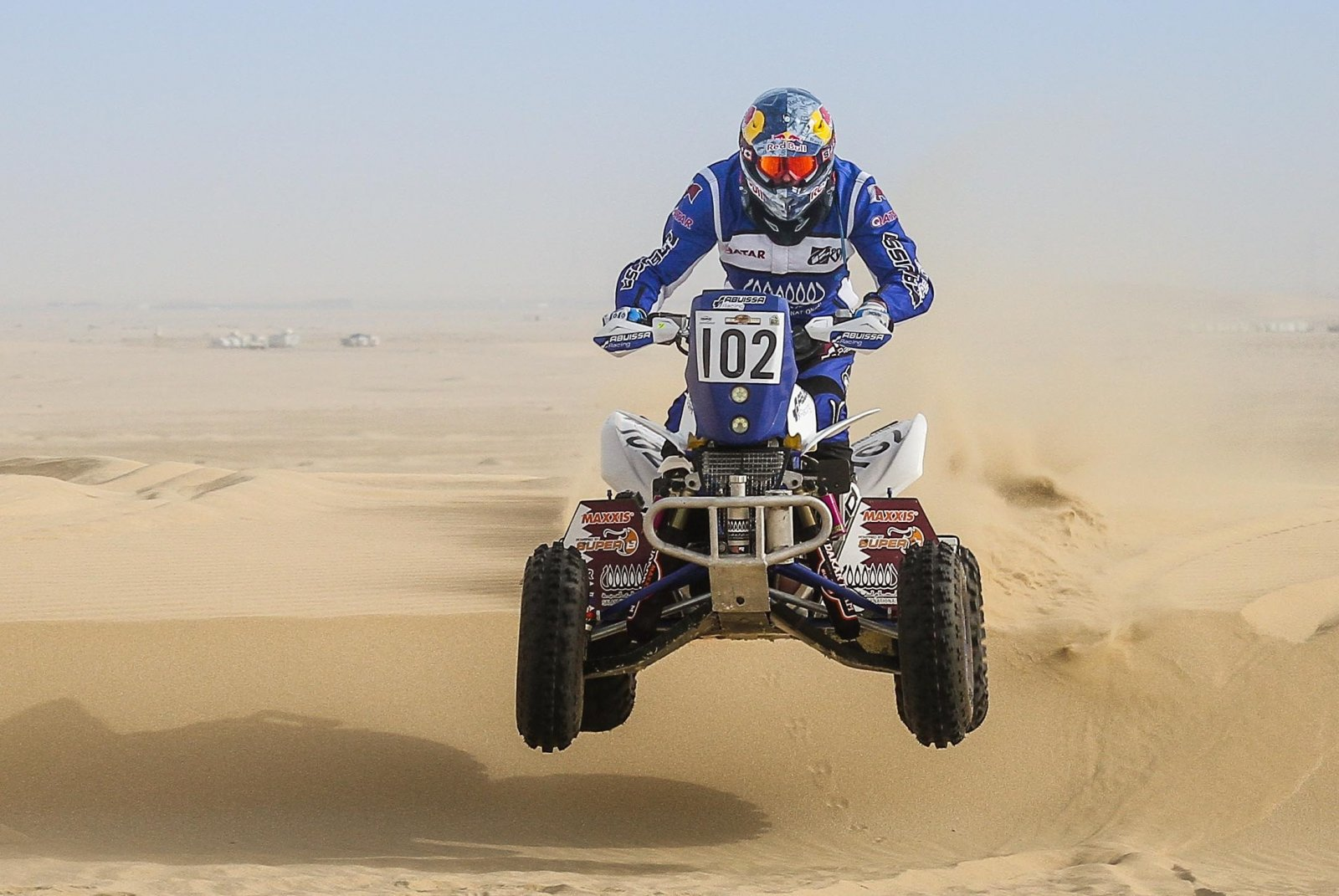 Qatar's Mohammed Abu Issa in action in the quad category ..jpg