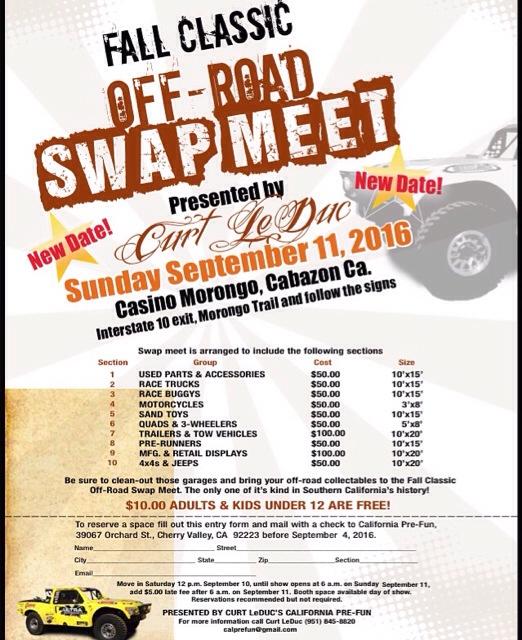 curt leduc off road swap meet 2016