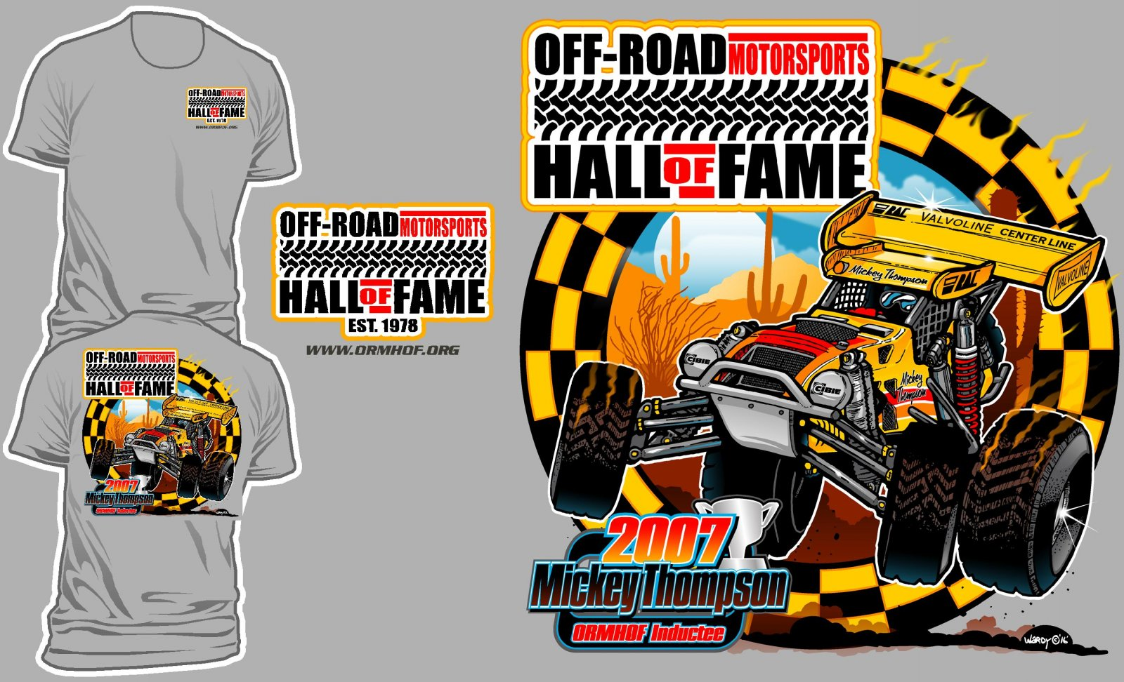 New ORMHOF t-shirt for a good cause! | race-deZert