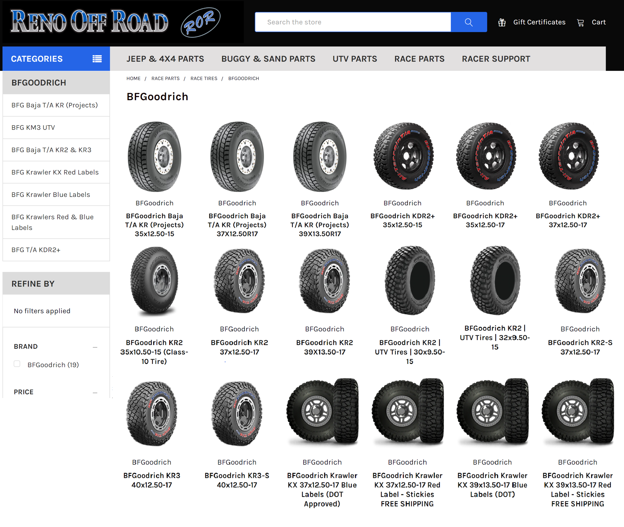 BFG Racing Page Screenshot.png