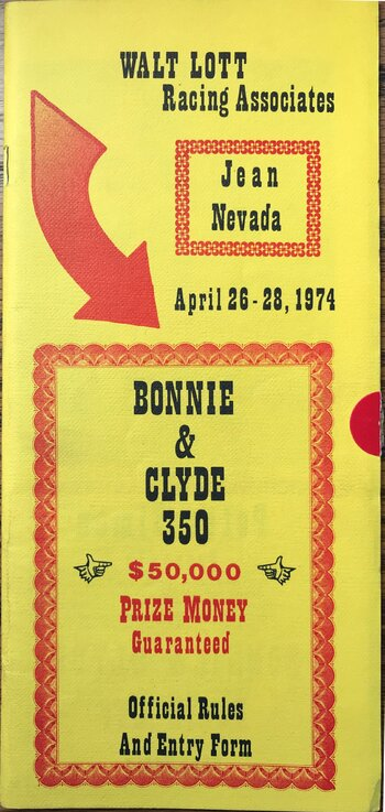 1974 Bonnie and Clyde 350 rules and entry (1).JPG