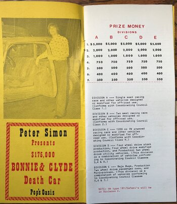 1974 Bonnie and Clyde 350 rules and entry (2).JPG