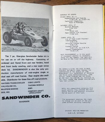 1974 Bonnie and Clyde 350 rules and entry (3).JPG