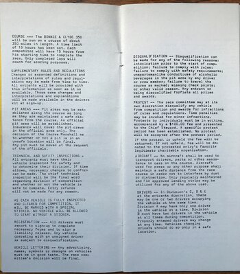 1974 Bonnie and Clyde 350 rules and entry (4).JPG